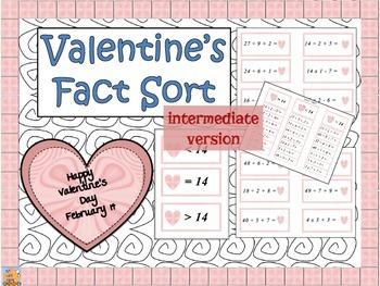 INTERMEDIATE Valentine Fact Sort