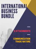 INTERNATIONAL BUSINESS BUNDLE –  Communication & Trade Nature