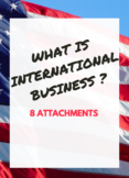 INTERNATIONAL BUSINESS BUNDLE -  What is International Business?