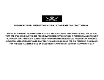 INTERNATIONAL TALK LIKE A PIRATE DAY: CRYPTOGRAM