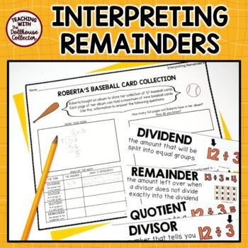 Interpreting The Remainder 6 Worksheets Answer Keys 6 Word