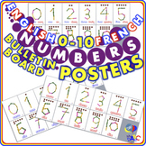Numbers 0-10 Bulletin Board POSTERS | English and French for Kids