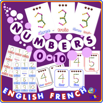 Interstar Numbers 0 to 10 English and French BUNDLE