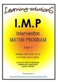 INTERVENTION MATHS PROGRAM BUNDLE - IMP Year 3 - Aust - ACARA aligned + GAMES