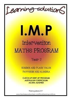 INTERVENTION MATHS PROGRAM BUNDLE - IMP Year 2 -  + 100 Task Cards + 33 Games