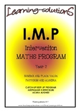 INTERVENTION MATHS PROGRAM - IMP Year 2 + 100 Task Cards - ANSWERS Included
