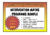 INTERVENTION MATHS PROGRAM BUNDLE - IMPs Year 2 to Year 5 - Screeners Incl.