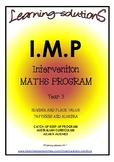 INTERVENTION MATHS PROGRAM - IMP Year 3 - ACARA Aligned - ANSWERS Included