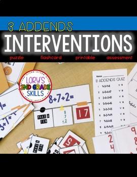 INTERVENTIONS - 3 Addends