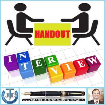 INTERVIEW: HANDOUTS