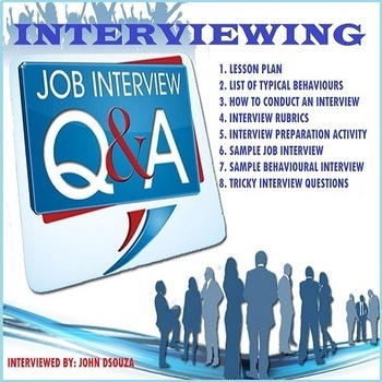 INTERVIEWING: LESSON PLAN, RUBRICS, SAMPLES, TIPS