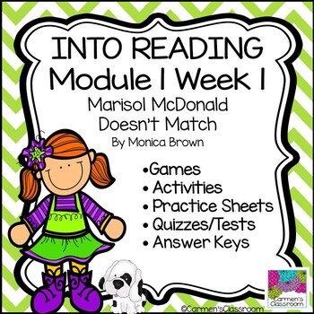 Grade 3 INTO READING Module 1 Week 1 Marisol McDonald Vocabulary & Comprehension