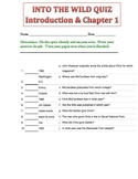 INTO THE WILD QUIZ Introduction & Chapter 1