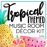 Music Room Decor Kit {Tropical Theme}
