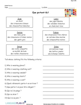 INTRO TO CLOTHING AND ACCESSORIES (FRENCH)