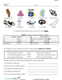 INTRO TO CLOTHING AND ACCESSORIES (SPANISH)