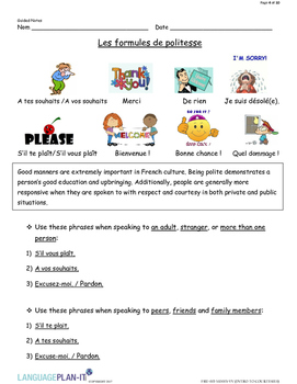 INTRO TO COURTESIES (FRENCH  2017 EDITION)