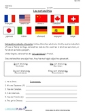 INTRO TO NATIONALITIES (FRENCH)
