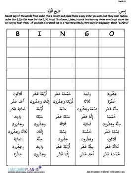 INTRO TO NUMBERS 1-30 (ARABIC)