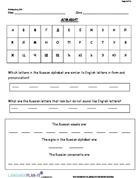 INTRO TO PRONUNCIATION (RUSSIAN)