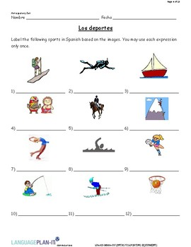 INTRO TO SPORTING EQUIPMENT (SPANISH)