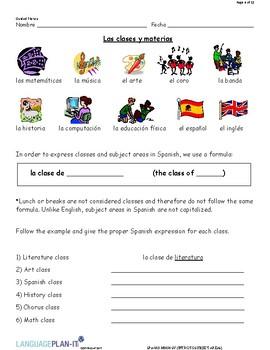 INTRO TO SUBJECT AREAS (SPANISH)