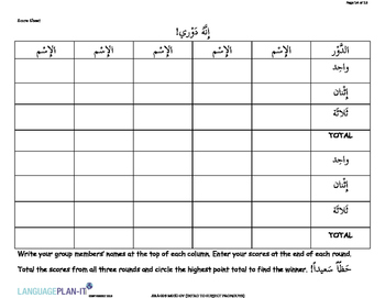 INTRO TO SUBJECT PRONOUNS (ARABIC)