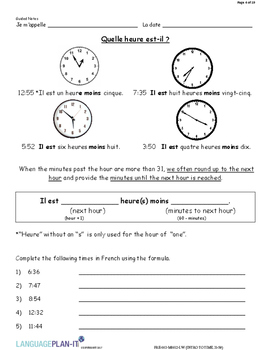 INTRO TO TIME 31-59 (FRENCH)