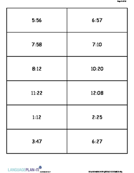 INTRO TO TIME 31-59 (SPANISH)