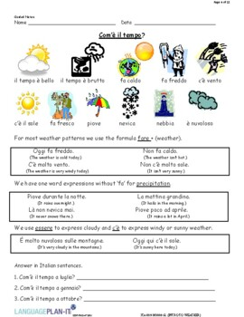 INTRO TO WEATHER (ITALIAN 2016 EDITION)