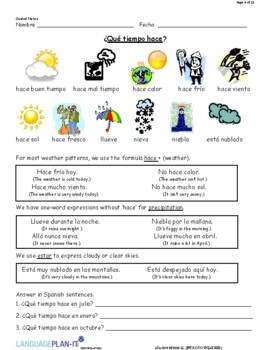 INTRO TO WEATHER (SPANISH 2016 EDITION)