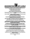 INTRODUCE YOUR STUDENTS TO WASHINGTON'S WIT & WILE!