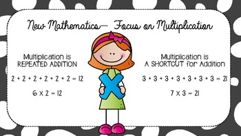 INTRODUCING MULTIPLICATION - Warm Ups and 2 lessons