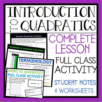 INTRODUCTION TO QUADRATICS