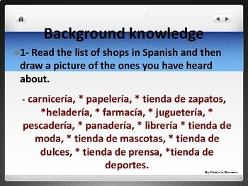 INTRODUCTION TO SHOPS AND ITEMS IN SPANISH