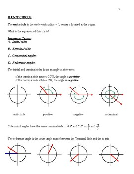 INTRODUCTION TO TRIGONOMETRY PACKET W/ ANSWERS