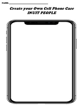 INUIT PEOPLE CREATE YOUR OWN CELL PHONE COVER