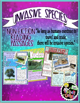 INVASIVE SPECIES ~ READING PASSAGES/GAZETTES