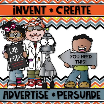 INVENT & ADVERTISE {Brainstorm, Mind Map, Expository & Persuasive Writing}