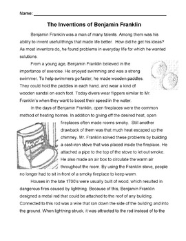 Biography INVENTIONS OF BEN FRANKLIN Info 4 Cause-Effect R
