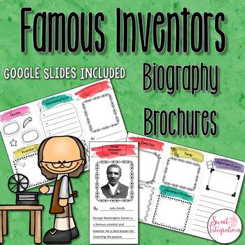 INVENTOR DIGITAL BROCHURES: Editable PowerPoint and Google Slides