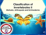 INVERTEBRATES II- MOLLUSKS-ARTHROPODS AND ECHINODERMS