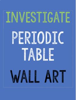 INVESTIGATE Periodic Table Wall Decor