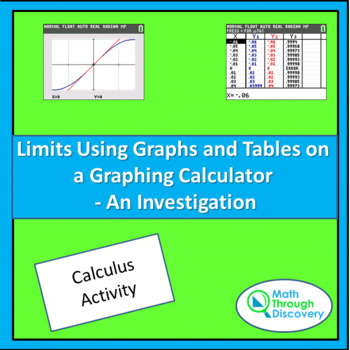 Calculus:  Limits Using Graphs and Tables on the Graphing Calculator