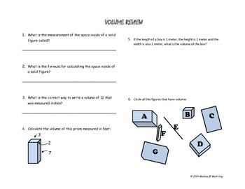 INVESTIGATING VOLUME:  A Hands on Approach using Boxes & Cubes