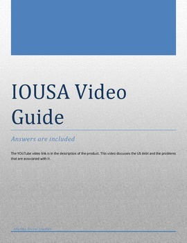 IOUSA video guide and answer key by Little Blackbird Social Studies