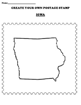 IOWA Create your Own Postage Stamp Worksheet
