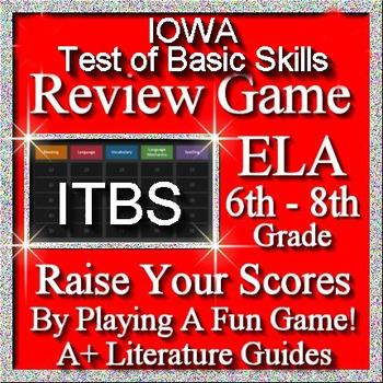 IOWA ELA Review Game I Grades 6 - 8 (ITBS Iowa Test of Basic Skills)