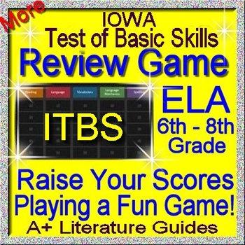 IOWA ELA Review Game V Grades 6 - 8 (ITBS Iowa Test of Basic Skills)