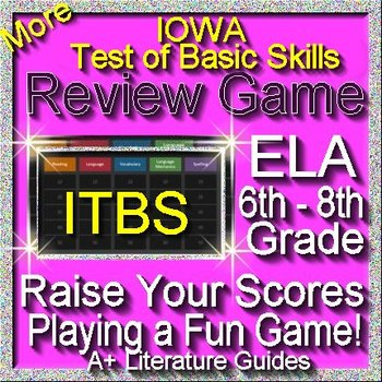 IOWA ELA Review Game VI Grades 6 - 8 (ITBS Iowa Test of Basic Skills)